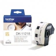 Brother etykiety papierowe 24mm, biała, 1000 szt., DK11218, do drukarek typu QL