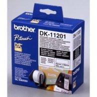 Brother etykiety papierowe 29mm x 90mm, biała, 400 szt., DK11201, do drukarek typu QL