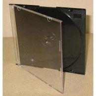 Box na 1 szt. CD, czarny, cienki, No Name, 5,2mm