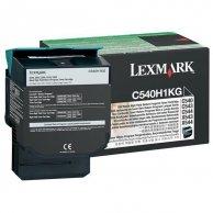 Lexmark oryginalny toner C540H1KG, black, 2500s, return, high capacity, Lexmark C540, X543, X544, X543, X544