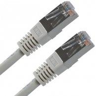 FTP patchcord, Cat.5e, RJ45 M/1m, chroniony, szary, No Name