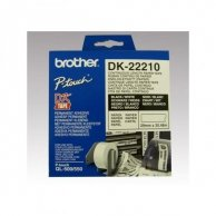 Brother rolki papierowe 29mm x 30.48m, biała, 1 szt., DK22210, do drukowania etykiet