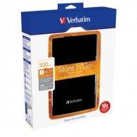 Verbatim zewnętrzny dysk twardy, Store,N,Go, 2.5, USB 3.0, 500GB, 53029, czarny