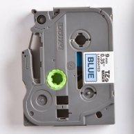 Brother taśma do drukarek etykiet TZE-521, czarny druk/niebieski podkład, laminowane, 8m, 9mm