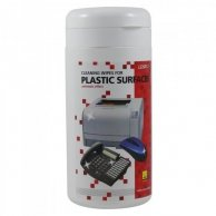 Środki czyszczące chusteczki jednorazowe do plastiku, pudełko, 100szt., LOGO