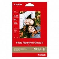 Canon Photo Paper Plus Glossy, foto papier, połysk, biały, 13x18cm, 5x7, 260 g/m2, 20 szt., PP-201 5x7, atrament