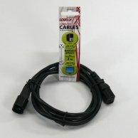 Kabel sieciowy 230V przedłużacz, C13-C14, 2m, VDE approved, Logo