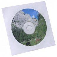 Koperta na 1 szt. CD, papier, biała, z okienkiem, No Name