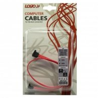 Kabel do dysku twardego SATA, SATA-SATA, M/M, 0.5m, prostokątny, Logo, blistr
