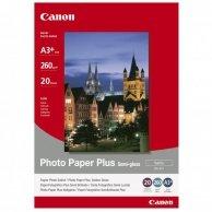 Canon Photo Paper Plus Semi-G, foto papier, półpołysk, satynowy, biały, A3+, 260 g/m2, 20 szt., SG-201 A3+, atrament