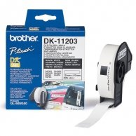 Brother etykiety papierowe 17mm x 87mm, biała, 300 szt., DK11203, do drukarek typu QL