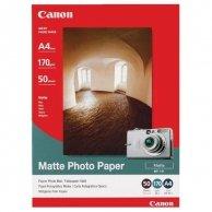 Canon Matte Photo Paper, foto papier, matowy, biały, A4, 170 g/m2, 50 szt., MP-101 A4, atrament