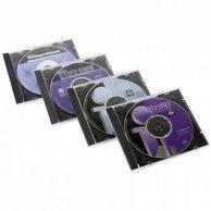 Box na 1 szt. CD, przezroczysty, czarny tray, No Name, 10,4 mm