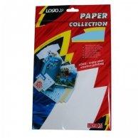 Logo etykiety na CD 118/41mm, A4, matowe, białe, 2 etykiety, 4 naklejki, 140g/m2, pakowany po 10 szt., do drukarek atramentowych i