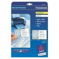 Avery Zweckform, wizytówki, z gładka krawędzią, białe, matowe, A4, 185 g/m2, 85x54mm, 10szt./A4, 25 arkusza, do drukarek atramento