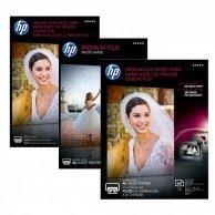 HP Premium Plus Glossy Pho, foto papier, połysk, biały, 10x15cm, 4x6, 300 g/m2, 50 szt., CR695A, atrament