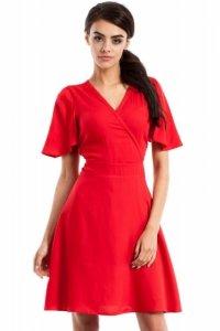 MOE229 Sukienka czerwona