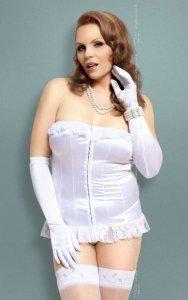 xIria - Plus Size - white 1740 gorset i stringi