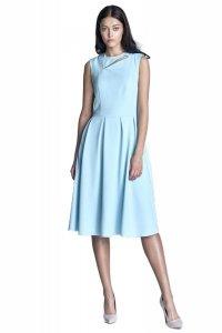 Sukienka midi - błękit  - S73