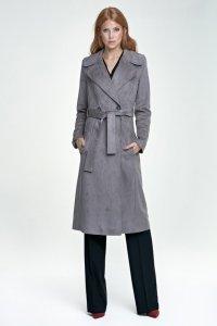 Długi płaszcz - szary - PL03