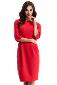 MOE277 sukienka czerwona
