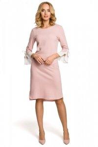 M327 Sukienka pudrowa