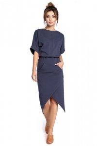 B029 sukienka niebieska