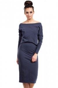 B001 sukienka niebieski