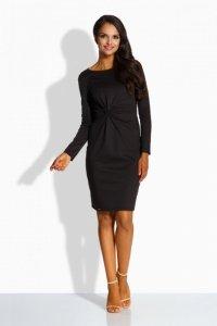L225 Dopasowana sukienka czarny