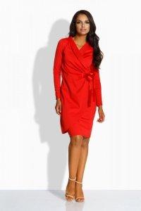 L227 kopertowa sukienka czerwony