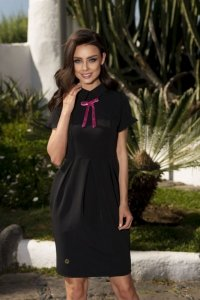 L234 Elegancka sukienka czarny