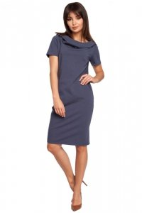 B028 sukienka niebieska