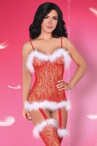 Catriona Christmas LC 17280 bodystocking śnieżynka