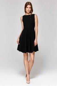 Sukienka z rozkloszowanym dołem - czarny - CS13