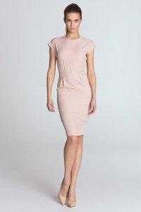 Sukienka ołówkowa - róż - S115