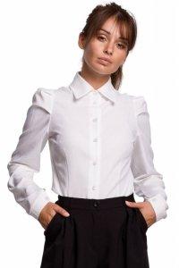 B165 Koszula z bufkami - biała