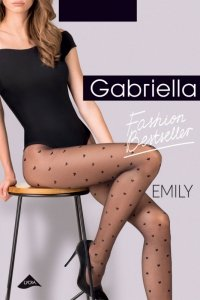 Gabriella Emily Code 495 rajstopy 20 den serduszka