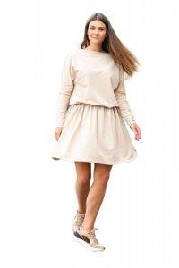 1 Sukienka L348 beżowy PROMO