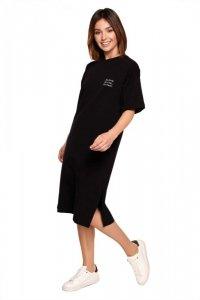 B194 Sukienka t-shirtowa - czarna