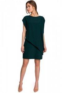S262 Sukienka warstwowa - zielona