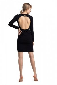 LA060 Sukienka z wycięciem na plecach - czarna