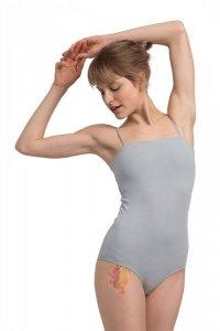 LA063 Body na cienkich ramiączkach - popielate