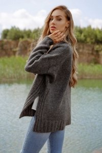 Sweter LS344 grafit