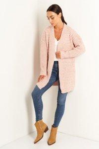 Sweter LS346 pudrowy róż