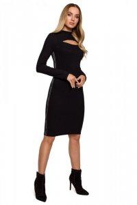 M606 Sukienka midi z łezką - czarna
