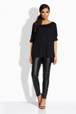 L205 Kobieca bluzka w formie nietoperza czarny