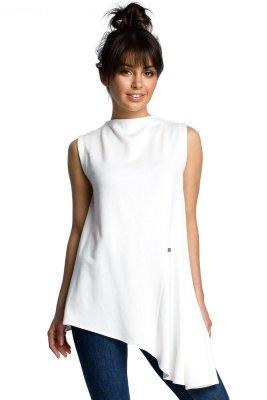 B069 Asymetryczna bluzka ecru
