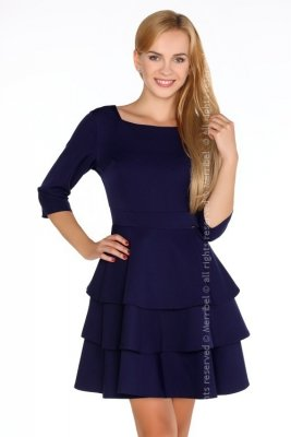 Reethan Navy Blue sukienka