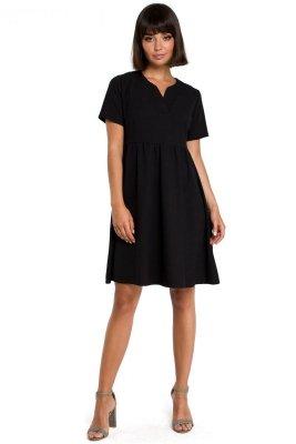 B081 Sukienka mini czarna