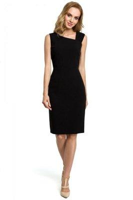 M397 Sukienka ołówkowa - czarna